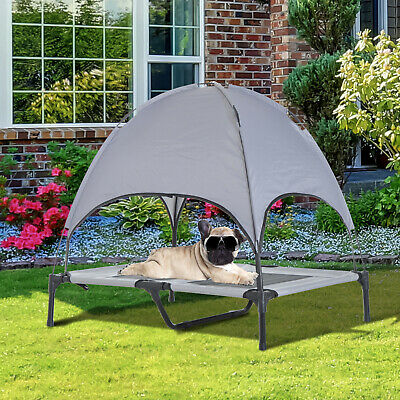 Elevated Pet Bed w/ Canopy Outdoor Covered Raised Dog Cot Carrying Bag