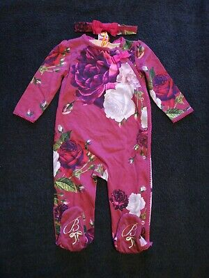 Girls Ted Baker Sleepsuit/Baby Grow 6-9 Months