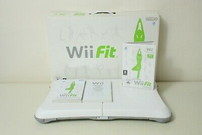 Boxed Official White Nintendo Wii Fit Balance Board & Wii Fit Game | FREE P+P