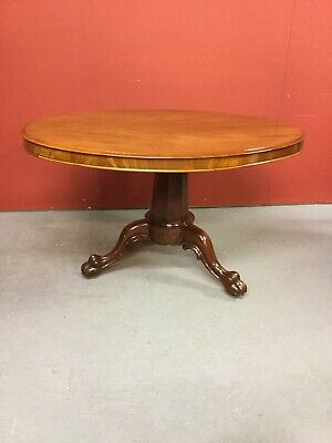Antique Victorian Mahogany Tilt Top Loo Table Sn-330b