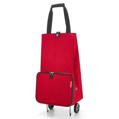 Reisenthel Foldable Trolley w/Wheels for Shopping Red HK3004 Excellent USA Ship