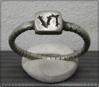 ** LEGIO VI FERRATA **Ancient Silver Legionary Roman Ring **AMAZING **