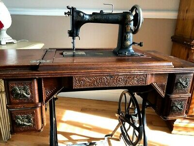 Wheeler Wilson Sewing Machine D-9 With Original Table 19th to Early 20th Century