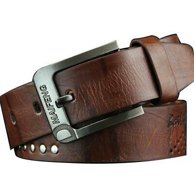 Classic Men's Leather Belt Casual Pin Buckle Waist Belt Waistband Belts Strap Y3