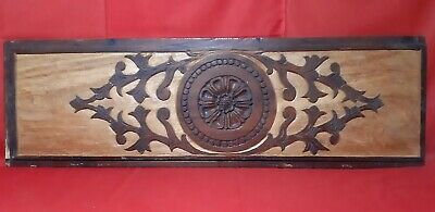 """Vintage Solid Wooden Beautiful Floral Wall Panel Antique Window Plaque Rare 38"""""""