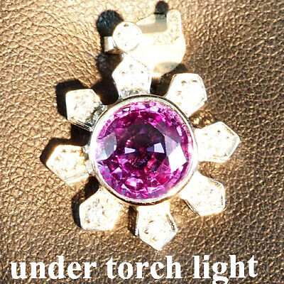 Change Blue Purple Spinel Pendant Round 4.20 Ct. Sapphire 925 Sterling Silver