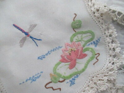 Seven Vintage Hand Embroidered Doilies.Very Shabby Chic. Great for Crafts. LOOK!