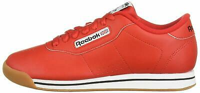 Reebok Womens Princess Leather Low Top Lace Up, Techy Red/White/Gum, Size 11.0 p