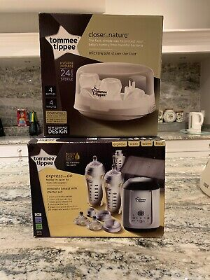 Tommee Tippee Express And Go Breast Milk Storage System + Microwave Steriliser