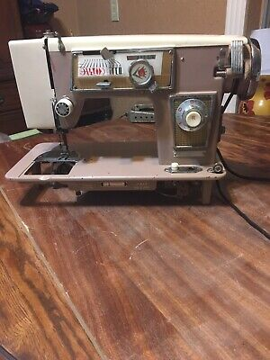 DeLuxe 145B Vintage Sewing Machine Made in Japan Not Working, Parts, Restoration
