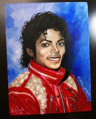 framing avail King of pop Jackson 5 Thriller Michael Jackson Oil Painting 28x28