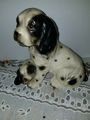 Vintage Harvey Knox Springer Spaniel Mom with Puppy Cute!