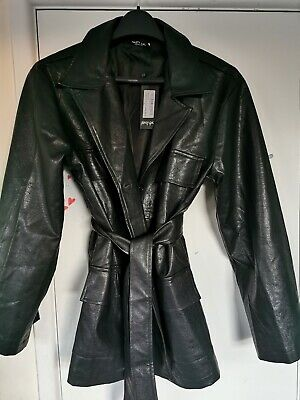 mr71 NASTY GAL Butterfly Bomber Satin Jacket in Black S Small