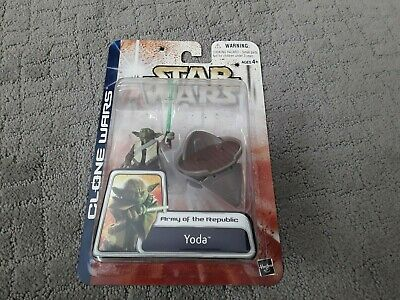 Star Wars Clone Wars Yoda Army of The Republic Action Figure 2003