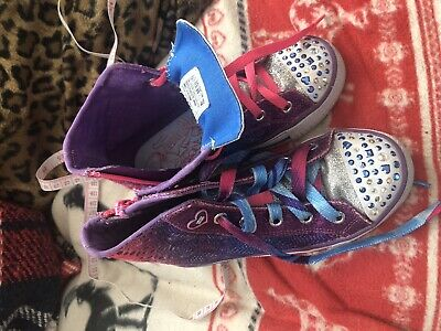 Girls Skechers Twinkle Toes Trainers Size 1.5 Light Up