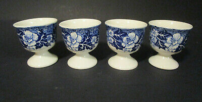 4 x Eierbecher Thames River Scenes Palissy Pottery