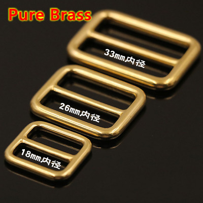 Leather Craft DIY Pure Brass Bag Luggage Strap Length Adjust Buckle Tool 18-38mm