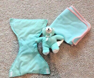 Gi-Go Dolls Bear & Diaper with Extra Blanket EUC Accessories