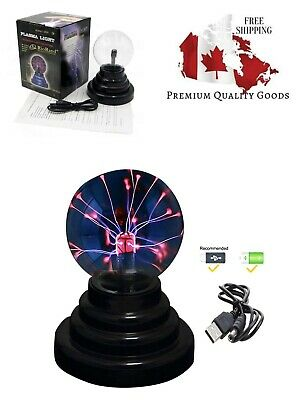 RioRand Plasma Ball Lamp Light [Touch Sensitive] Nebula Sphere Globe Novelty Toy