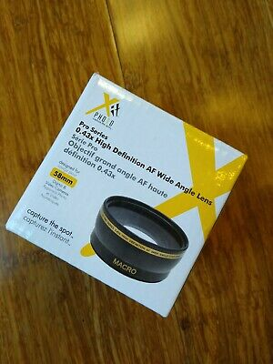 Xit Photo Pro Series 0.43 X High-definition AF Wide-angle Lens 58 Mm