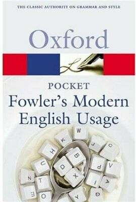 Pocket Fowler s Modern English Usage  Oxford Quick Reference
