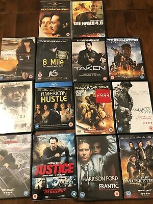 Job Lot Of 14 Action Movies