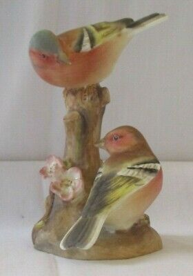 Royal Worcester Chaffinches 3364 Bone China Figurine