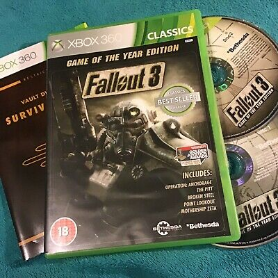 ✴️ Fallout 3 Game of the Year Edition Xbox 360 Game Inc MANUAL. 2 discs vgc.