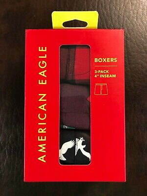 NWT American Eagle Outfitters Men's 3 Pack Boxer Shorts Size M / L  #8