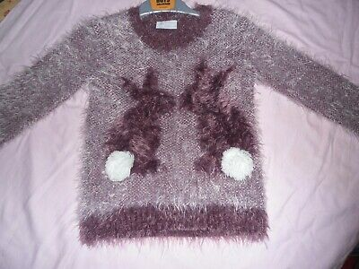 Girl Soft Fluffy Lilac Jumper 3 yrs