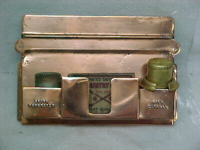 Aladdin Model 6 Copper Match Holder, With Genrator, Wick Cleaner