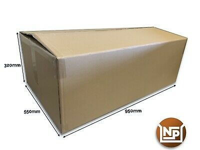 "5 x Extra Large Cardboard Boxes Strong Double Wall Huge 37"" x 22"" x 12"" XXL"