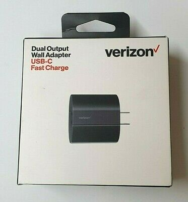 Verizon USB-C Dual Output Wall Adapter with Fast Charge TVL18W2TYPEC-M