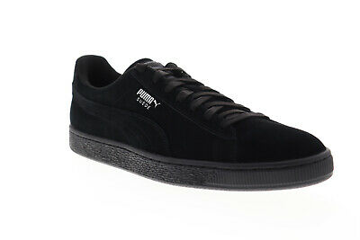 Puma Suede Classic + 35263477 Mens Black Suede Low Top Sneakers Shoes