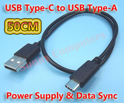 50CM USB Type-C Adapter Cable Power Charger Cord For Samsung Galaxy A70 A71 Lead