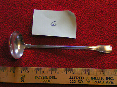"Tiffany & Co. Hamilton pattern sterling silver 6 7/8"" sauce gravy ladle no mono"