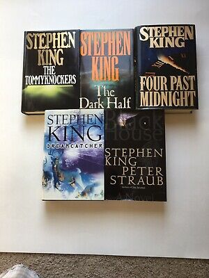 Lot Of 5 Stephen King Books 4 1st Editions Tommyknockers The Dark Half 4 Past Mi