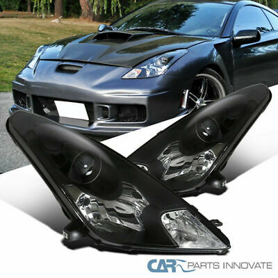 00-05 Fit Toyota Celica Black Projector Headlights Head Lamps Lights Replacement