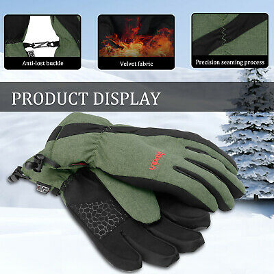 Men Women Ski Winter Touch Screen Gloves Waterproof Snowboard Thermal Warm Snow