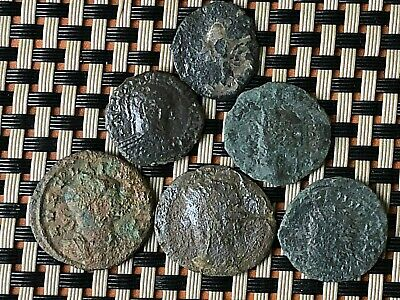 Lot Of 6 Ancient Roman Imperial Bronze Coins Ae Antioninianus And Ae Follis.