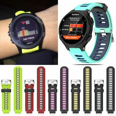 Sport Silicone Strap Watch Band Wristband+Tool For Garmin Forerunner 735XT UK
