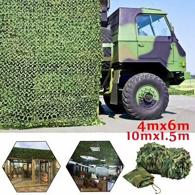 Camouflage Netting Camo Net Hunting Shooting Hide Cover Army Camping Woodland UK