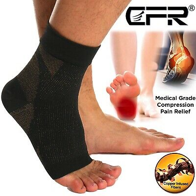 AU Copper Compression Socks Ankle Support Foot Brace Sports Arthritis Joint Pain