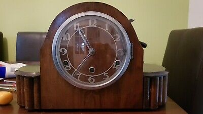 Mantel  Clock  Art  Deco  Style Striking Westminster Chimes Restoration