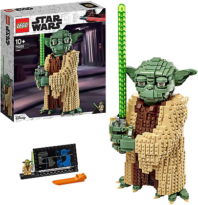 LEGO 75255 Star Wars Yoda Construction Set, Collectable Model with Display The