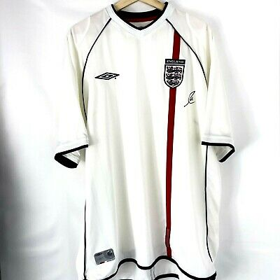 Authentic Hand Signed Rio Ferdinand Autograph England Football Shirt With Proof