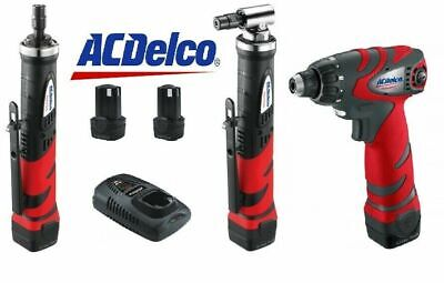 AcDelco 10.8V Angle Die Grinder & Straight Die Grinder& Drill / Screw driver Kit