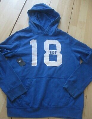 abercrombie blue hoody from usa, small mens/teen
