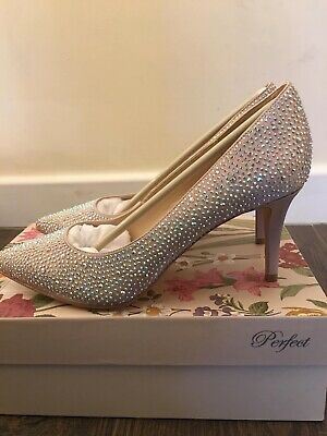 Perfect Blush Diamond Heels  UK Size 6 (39)