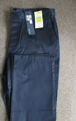 """TWO PAIRS Mens W38"""" L29""""M&S Autograph Black Chinos Trousers Brand New With Tags."""